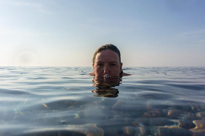 Skönt i vattnet