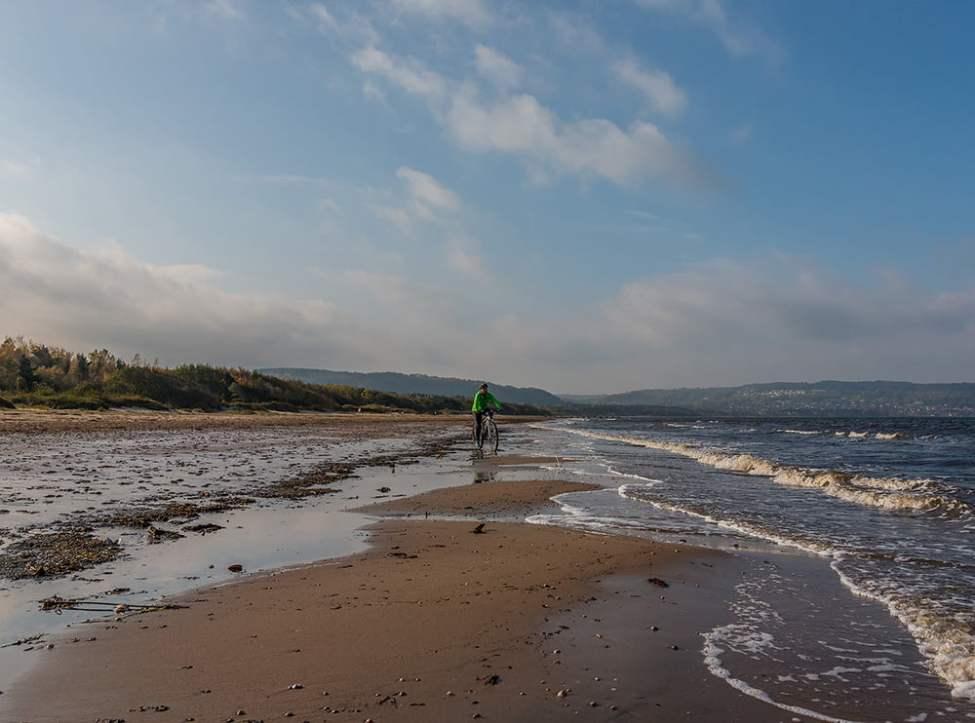 Havsnära cykling eller till och med havscykling om man så vill