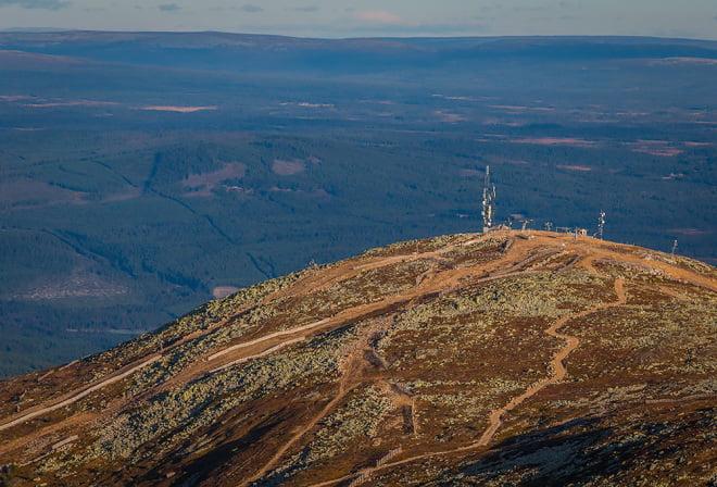 Del av Trysilfjellet och vy norrut
