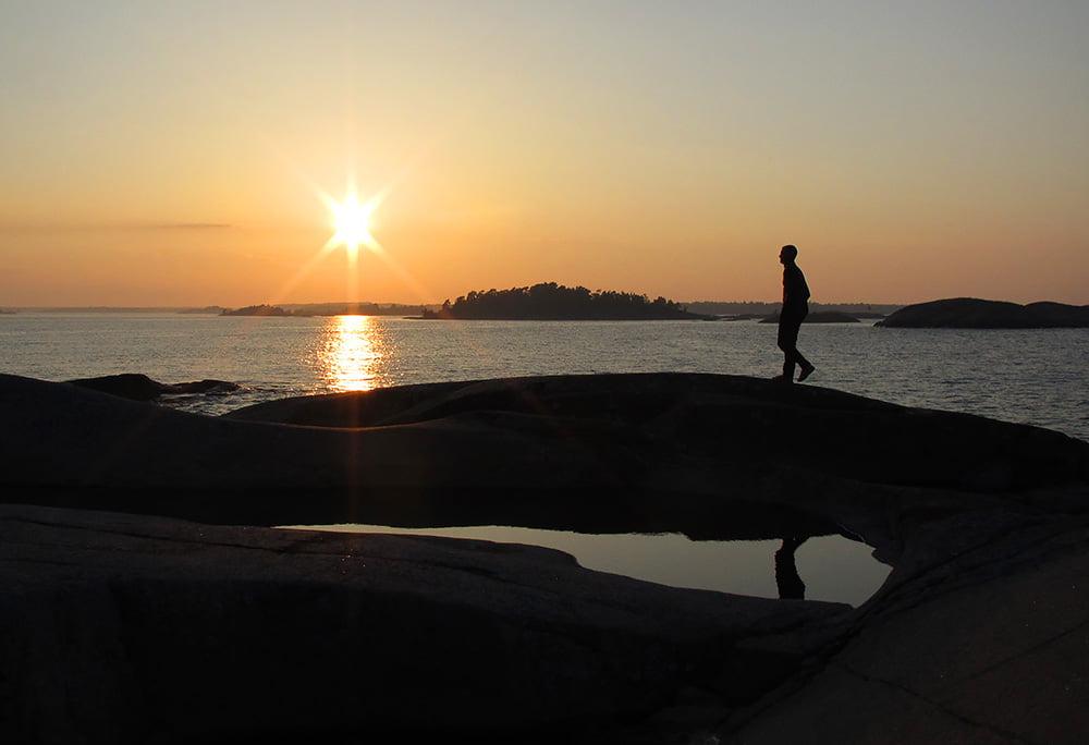 Finfint solhäng på Boskär