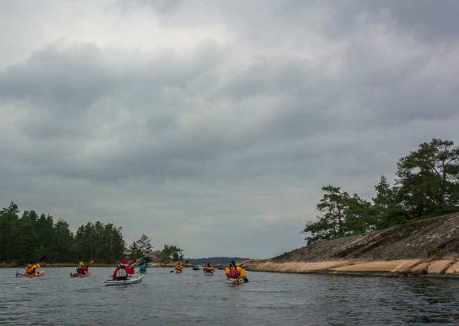 Precis lämnat Lilla Bergö, här mellan Kärsmansholmen och Lilla Bergö