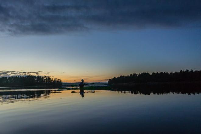 Fårdugasolnedgång strax utanför Klintemåla