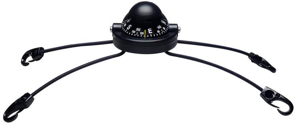 Silva 58 kajakkompass med gummicoord och krokar för fastsättning