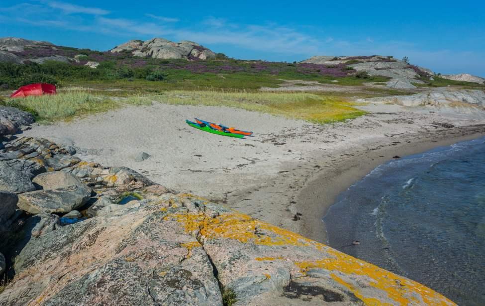 Superfin sandstrand på Långeskär