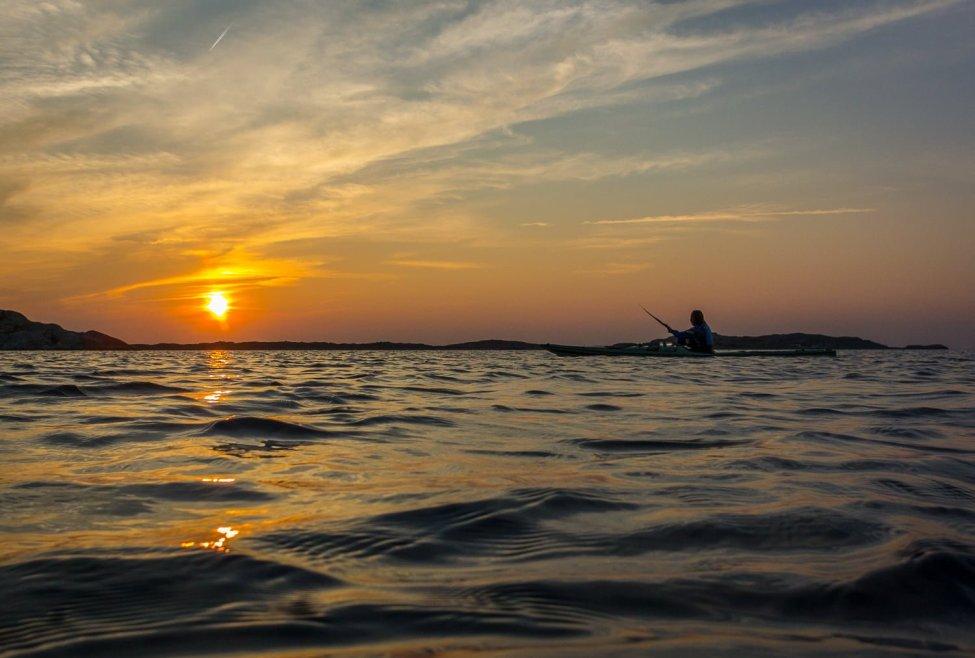 Solnedgång utanför Vrångö