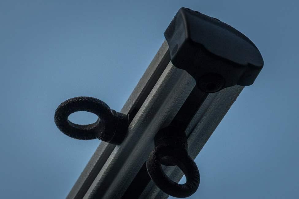 Rejäla öglor för remmar eller annat som kan behöva hängas upp