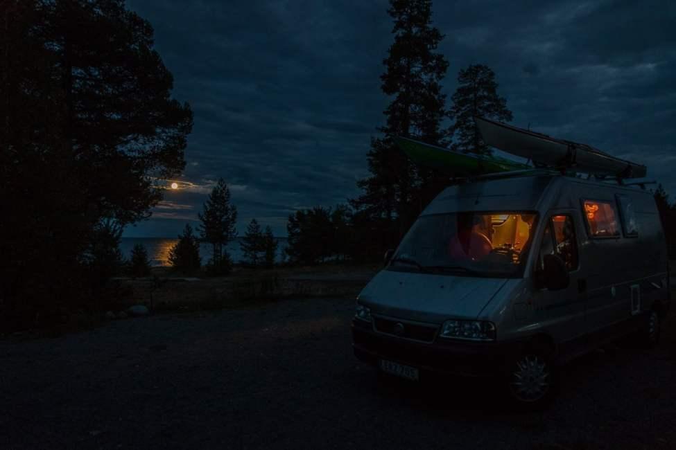 Seskarö camping utanför Haparanda