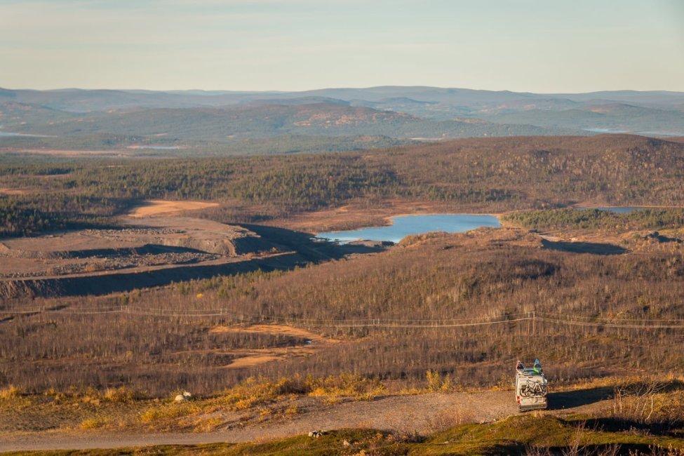 Uppe på Kirunatoppen