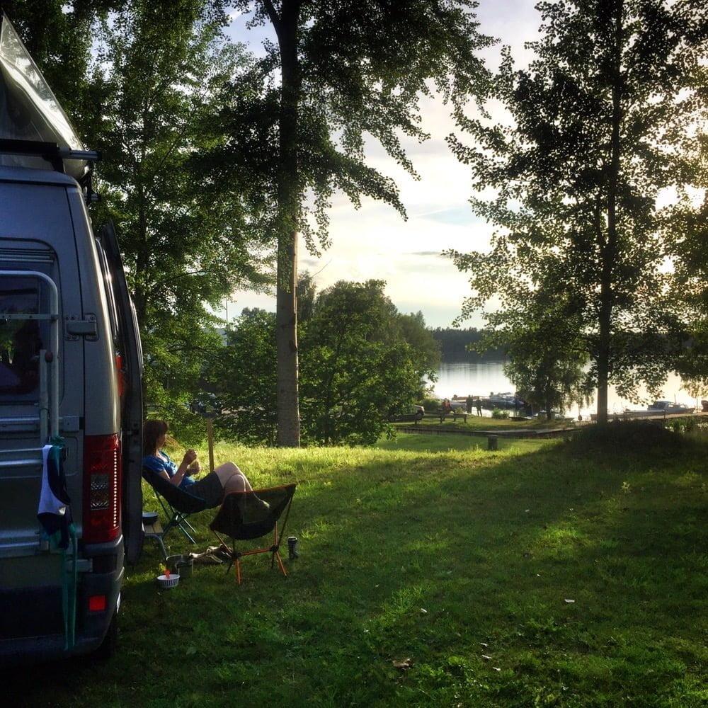 Gott häng på Braås mysiga lilla camping