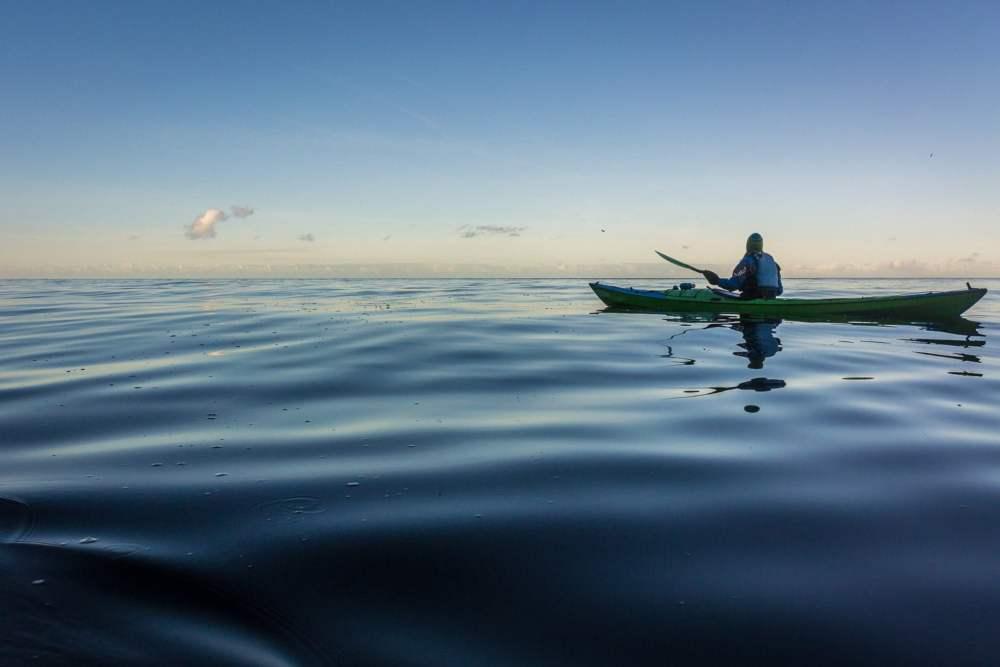 Oskrynkligt vatten och ett par pixlar Havsörn