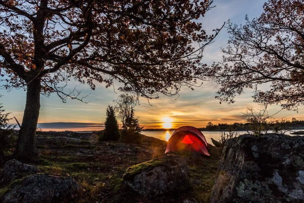 Morgon på Arpö. Soluppgång mitt i nyllet. Underbar morgon.
