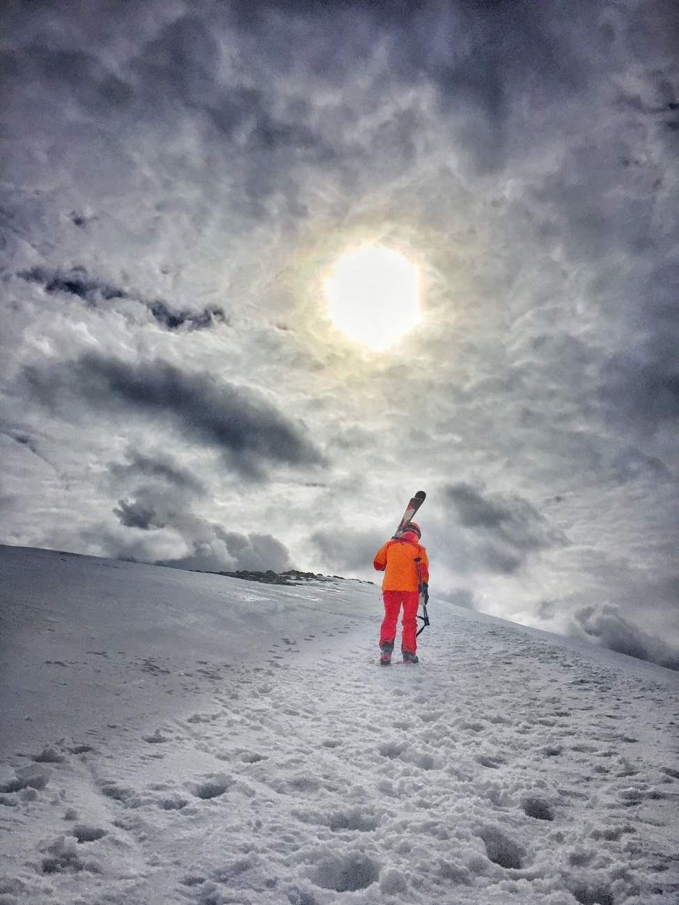 Promenad upp till toppen för lite vy