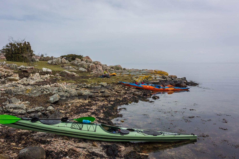 Landkänning vid Lilla Sandhamn