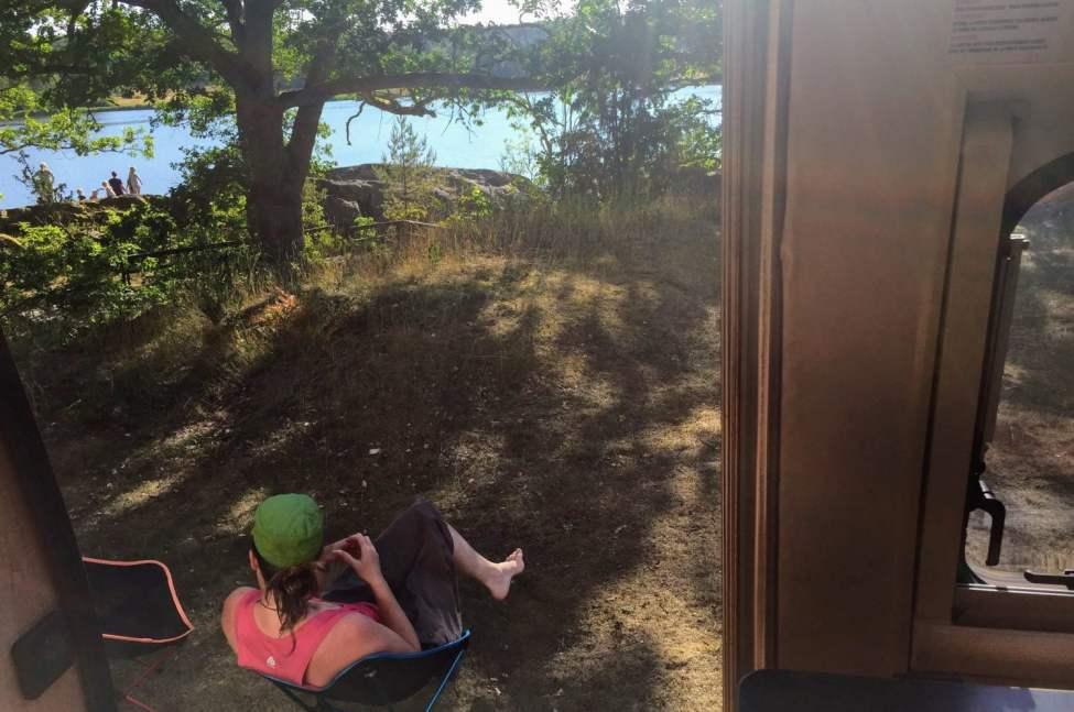 Go utsikt på Blankaholms naturcamping