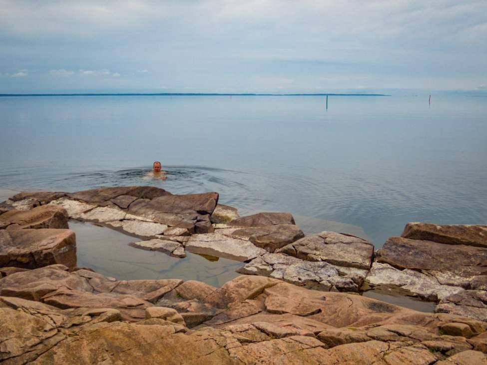 Skönt och svalkande bad i Vänern