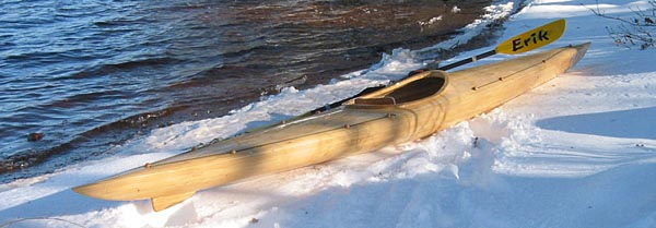 Min hemmabyggda Kavat väntar på att få komma ut på en vinter påVästersjön