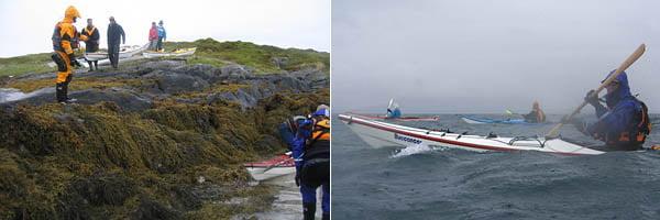 Sjösättning från Bessvær vid lågvatten, 1,5m lägre vatten än när vi kom kvällen innan | Lite regn och rusk