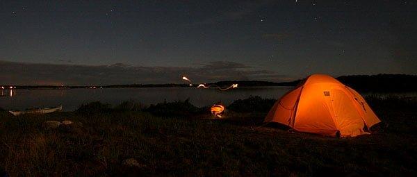 Läger på Ljungskär