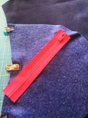 Softshell-Jacke kakakiri Reißverschluss einnähen