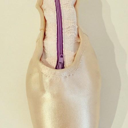 Spitzenschuh kakakiri Reißverschluss Mäppchen Tasche upcycling