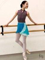 Ballett-Wickelrock doppellagig kakakiri handgenäht