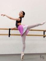 Ballett-Wickelrock ombré kakakiri rosa weiß