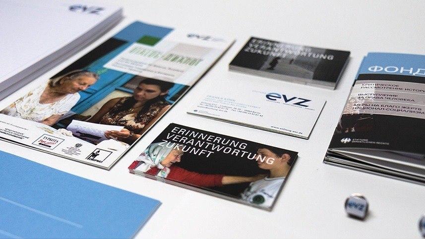 Kakoii Berlin Werbeagentur EVZ. Kommunikationsmaterialien.