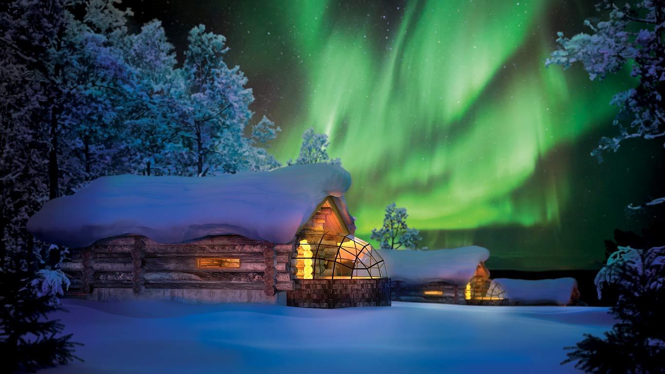 Image result for northern lights iceland igloo