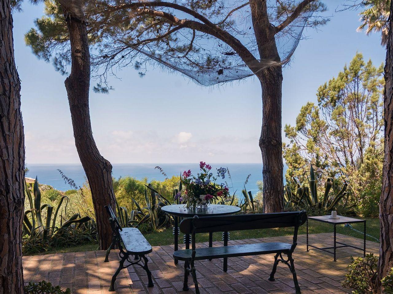 Terrasse mit Meerblick Ferienhaus Kalabrien