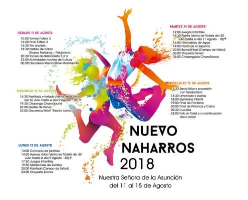 Cartel Fiestas Nuevo Naharros 2018