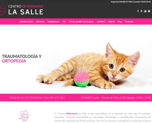 Página web Veterinaria La Salle