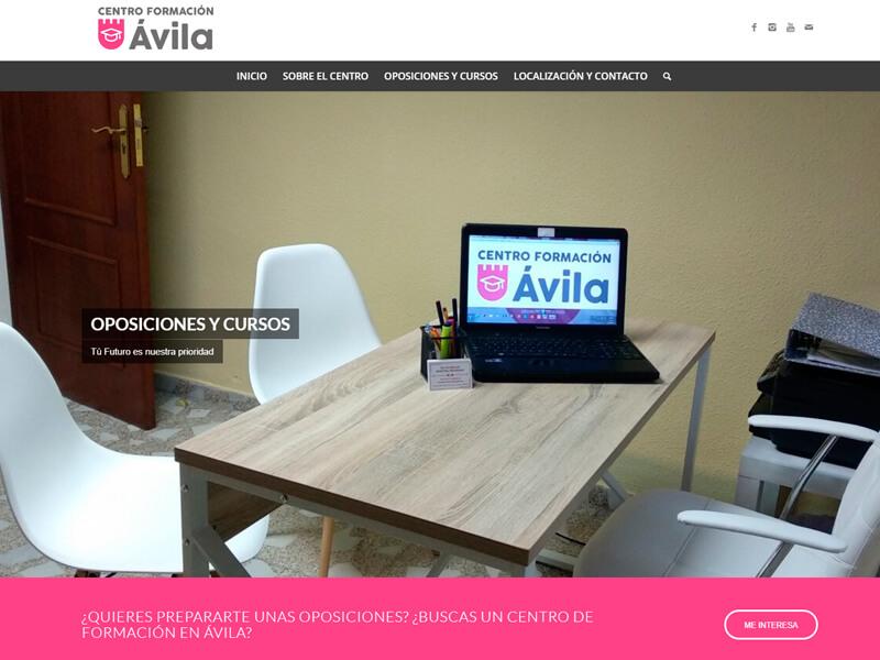 Página web Centro de Formación Ávila