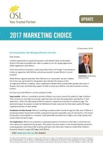 thumbnail of Marketing Choice Update – 9 December 2016