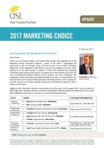 thumbnail of Marketing Choice Update – 6 February 2017