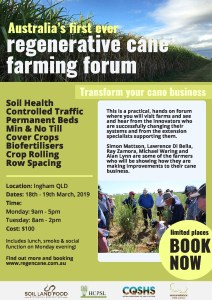 thumbnail of Regenerative Cane Farming Forum 2019 Flyer 2019 v2
