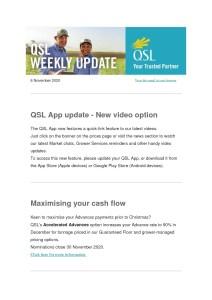 thumbnail of QSL Weekly Update – 6 November 2020