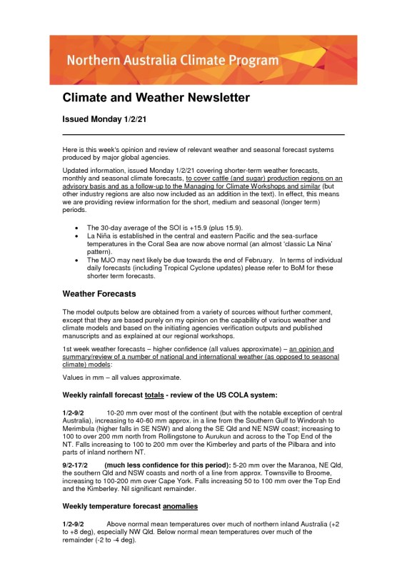 thumbnail of Climate and Weather Newsletter