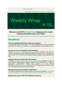 thumbnail of National Farmers Federation – Weekly Wrap