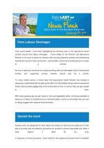 thumbnail of Farm Labour Shortages