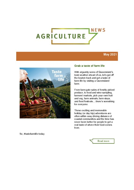 thumbnail of Agriculture News – May 2021