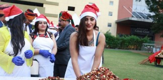 Celebrities at Christmas Cake Mixing Ceremony in Green Park