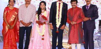 Director Manobala Son Harish weds Priya Wedding Reception Photos