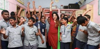 Actress Sakshi Agarwal Visits Autism Affected Children Home