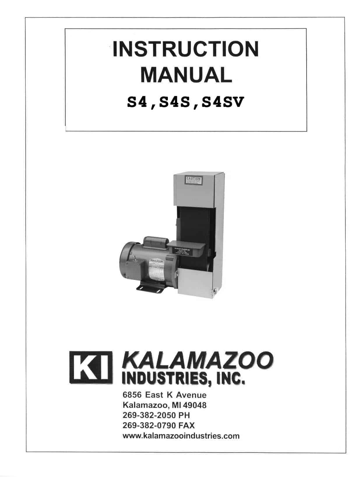 S4S 4 x 36 inch belt sander manual
