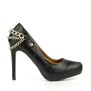 reducere Pantofi dama Lupita negri, cel mai mic pret