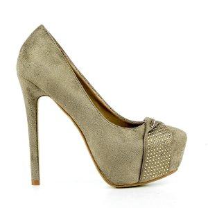 reducere Pantofi dama Eiko khaki, cel mai mic pret