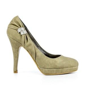 reducere Pantofi dama Florenta khaki, cel mai mic pret