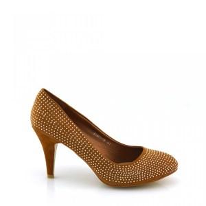 reducere Pantofi dama camel cu strasuri, cel mai mic pret