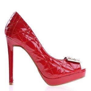 reducere Pantofi dama Dawn rosii, cel mai mic pret