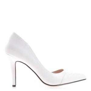 reducere Pantofi dama Jami albi, cel mai mic pret